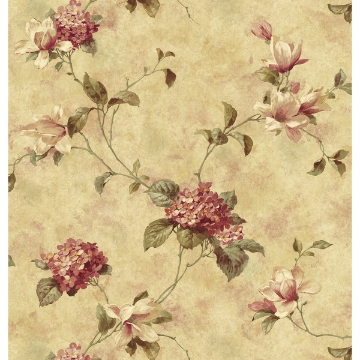 Picture of Magnolia Yellow Hydrangea Trail Wallpaper