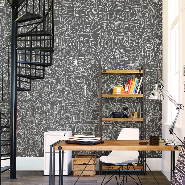 Picture of BKLYN Navy Yard Grey Wall Mural