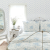 Picture of Baby Bow Light Blue Ribbon Trellis Wallpaper
