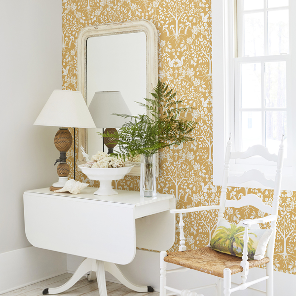 Picture of Leo Yellow Tree Wallpaper