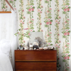 Picture of Delisa Yellow Floral Stripe Wallpaper