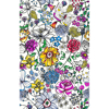 Picture of Daley Multicolor Line Floral Wallpaper