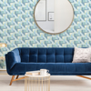 Picture of Teal Geo Medallion Peel and Stick Wallpaper