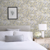 Picture of Yellow Toile Foliage Peel and Stick Wallpaper