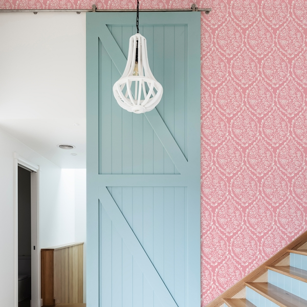 Picture of Pink Foxwood Meadow Peel and Stick Wallpaper