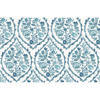 Picture of Aqua Foxwood Meadow Peel and Stick Wallpaper