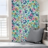 Picture of Turquoise Sunny Garden Peel and Stick Wallpaper