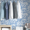 Picture of Blue Toile Foliage Peel and Stick Wallpaper