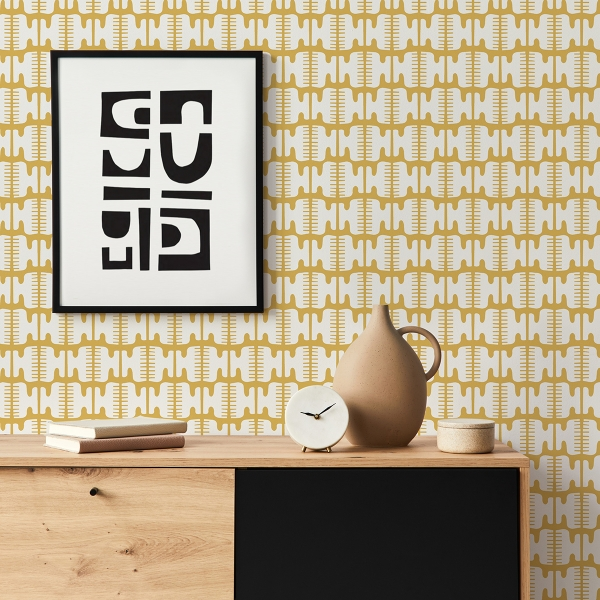 Picture of Yellow Shift Peel and Stick Wallpaper