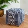 Picture of Geometric Dark Blue Pouf Decorative Object