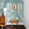 Picture of Waves Seaglass Wall Mural by Karen J. Revis