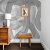 Picture of Waves Grey Wall Mural by Karen J. Revis