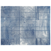 Picture of Panes Blue Wall Mural by Karen J. Revis
