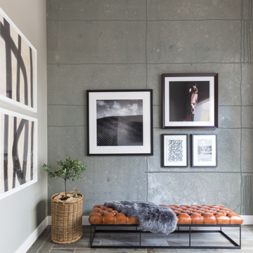 Picture of Panes Grey Wall Mural by Karen J. Revis