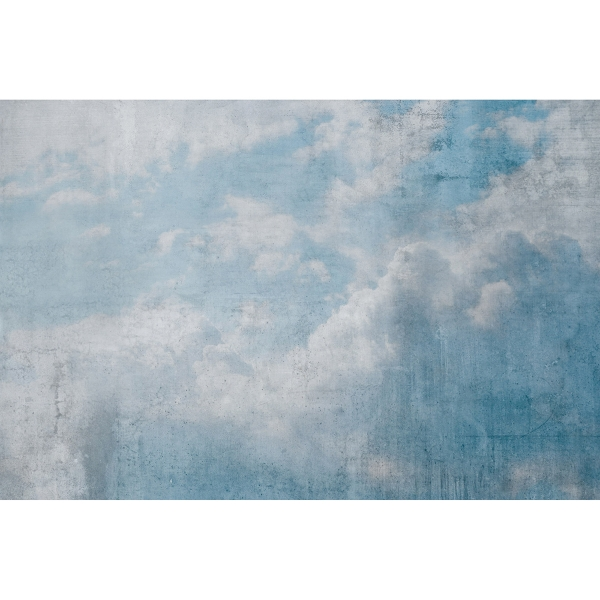 Picture of Blue Clouds Abstract Wall Mural