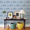 Picture of Blue Foliole Peel and Stick Wallpaper