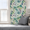 Picture of Teal Maldives Peel and Stick Wallpaper