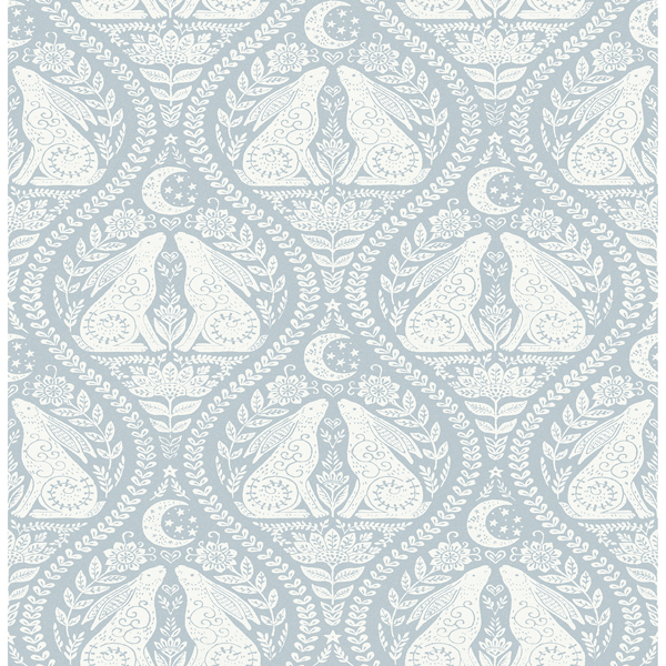 Picture of Blue Moon Rabbit Peel and Stick Wallpaper