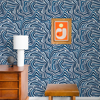 Picture of Blue Spirited Peel and Stick Wallpaper