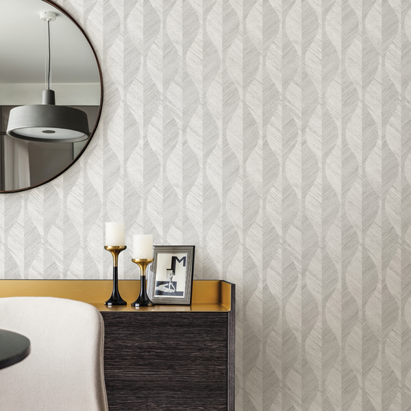 Picture of Oresome Silver Ogee Wallpaper