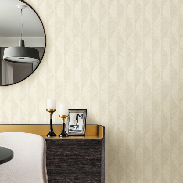 Picture of Oresome Cream Ogee Wallpaper