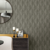 Picture of Oresome Dark Grey Ogee Wallpaper