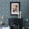 Picture of Galois Blue Damask Wallpaper