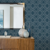 Picture of Frege Blue Trellis Wallpaper