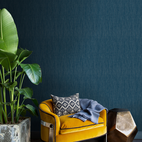Picture of Abel Blue Textured Wallpaper