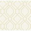Picture of Frege Gold Trellis Wallpaper
