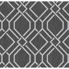 Picture of Frege Charcoal Trellis Wallpaper