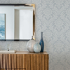 Picture of Galois Light Blue Damask Wallpaper