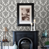 Picture of Galois Black Damask Wallpaper