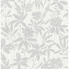 Picture of Riemann Silver Floral Wallpaper