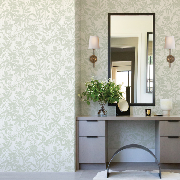 Picture of Riemann Green Floral Wallpaper