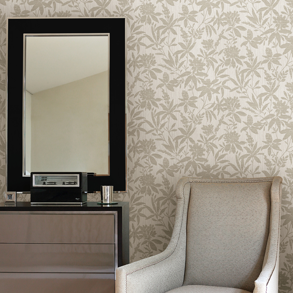 Picture of Riemann Beige Floral Wallpaper