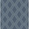Picture of Mersenne Indigo Geometric Wallpaper