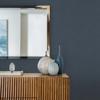 Picture of Wallis Indigo Faux Linen Wallpaper
