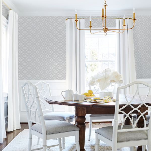 Picture of Mersenne Grey Geometric Wallpaper