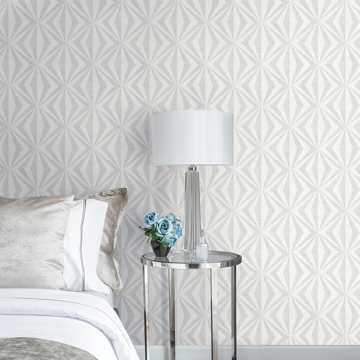 Picture of Monge Silver Geometric Wallpaper