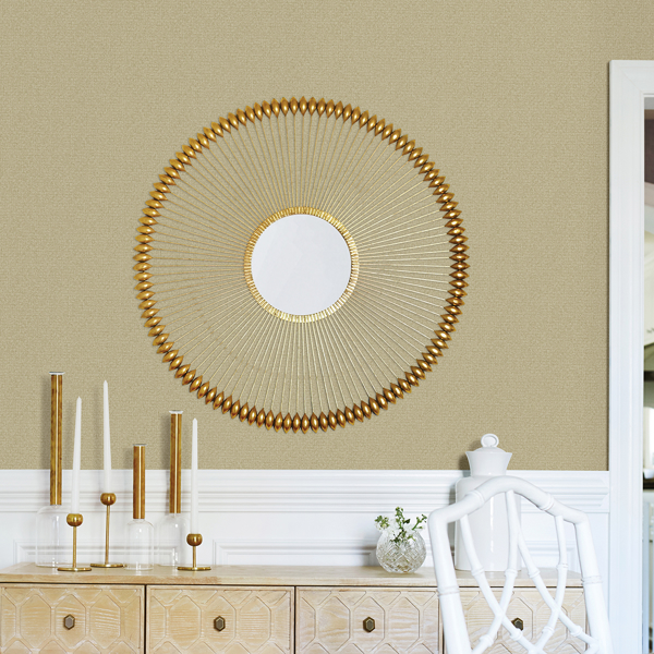Picture of Hilbert Gold Geometric Wallpaper