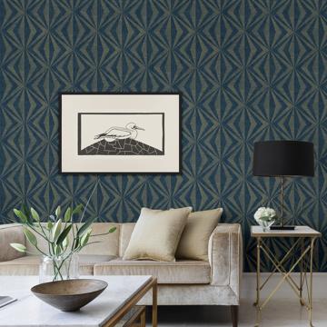Picture of Monge Blue Geometric Wallpaper