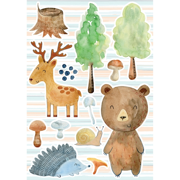 Picture of Watercolor Forest Wall Stickers