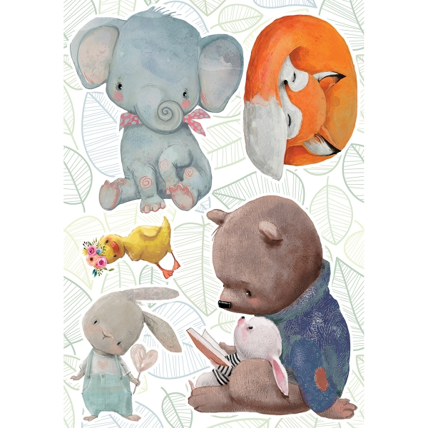 Picture of Watercolor Animals Wall Stickers