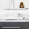 Picture of White Marble Border Decal
