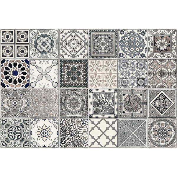 Picture of Grey Azulejos Kitchen Panels