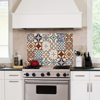 Picture of Red Azulejos Kitchen Panels