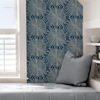 Picture of Navy Sunburst Peel and Stick Wallpaper