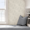 Picture of Silver Sunburst Peel and Stick Wallpaper