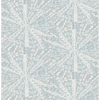 Picture of Grey Blue Sunburst Peel and Stick Wallpaper